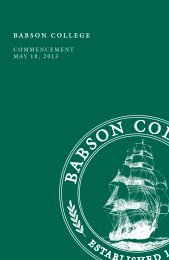 View the program (pdf) - Babson College