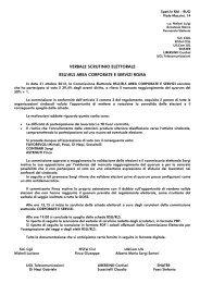 VERBALE SCRUTINIO ELETTORALE RSU\RLS AREA ... - Libersind