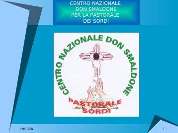 Presentazione Centro - Pastorale Sordi