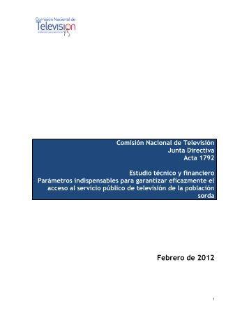 Estudio técnico y financiero - ANTV