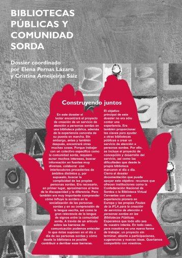 bibliotecas públicas y comunidad sorda - Servicio de Información ...