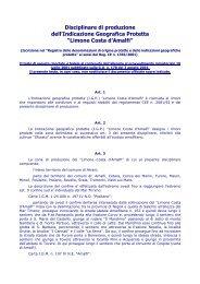 Disciplinare di produzione - Regione Campania