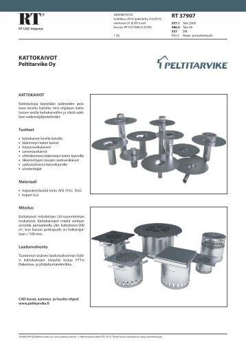 RT-kortti kattokaivot - Peltitarvike Oy
