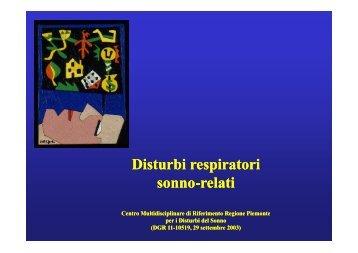 Disturbi respiratori respiratori sonno-relati - Educazione ...