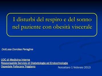 I disturbi del respiro e del sonno nel paziente con obesità ... - Aimar