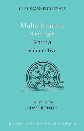 The Slaying of Karna - Clay Sanskrit Library
