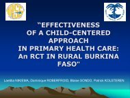 Child-centered approach in PHC - RCT in Burkina Faso