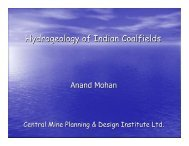 Hydrogeology of Indian Coalfields
