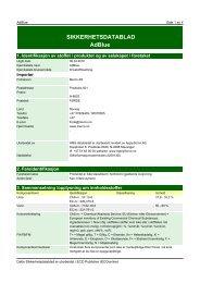 Datablad for AdBlue - kvam agentur as