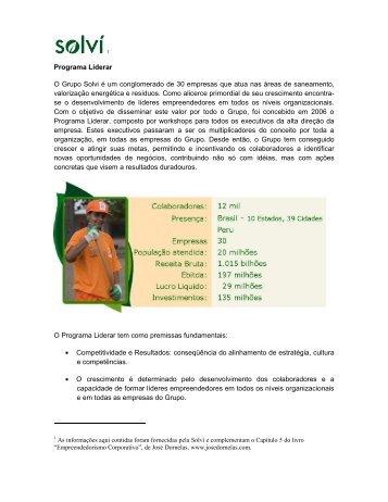 Solvi - Empreendedorismo – Prof. José Dornelas