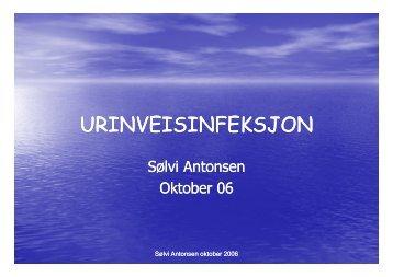Dag 3 URINVEISINFEKSJON ved Solvi Antonsen