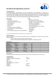 OLI-SOLVA 2K High-Solid Lack 25.70 - Oli Lacke GmbH