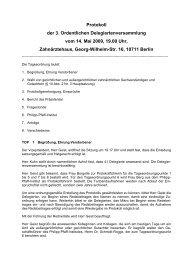 Protokoll der 3. Ordentlichen Delegiertenversammlung vom 14. Mai ...