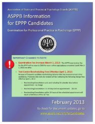 Information for Candidates - Association of State and Provincial ...