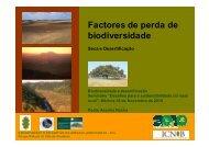 Factores de perda de biodiversidade - ICNF