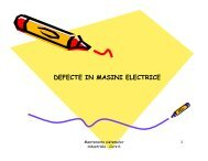 DEFECTE IN MASINI ELECTRICE