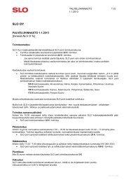 Lataa palveluhinnasto PDF - SLO