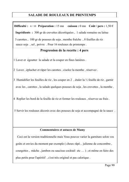 Entrées et Salades - Livresnumeriquesgratuits.com