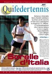 Sorelle - Federazione Italiana Tennis
