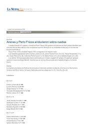 Arenas y Perlo Frizza anduvieron sobre ruedas - La Nueva Provincia