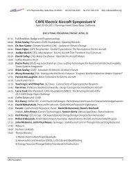 CAFE Electric Aircraft Symposium V - CAFE Foundation