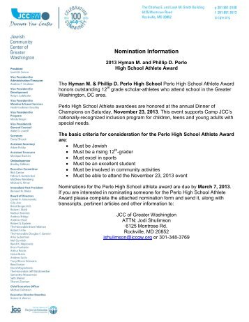 2013 Hyman M. & Phillip D. Perlo High School Athlete Award