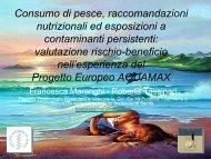Consumo di pesce, raccomandazioni nutrizionali ed esposizioni a ...