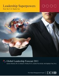 Leadership Superpowers - How the U.S. Stacks Up - DDI