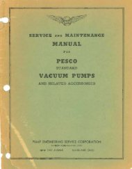 Service and Maintenance Manual for Pesco Standard Vacuum ...
