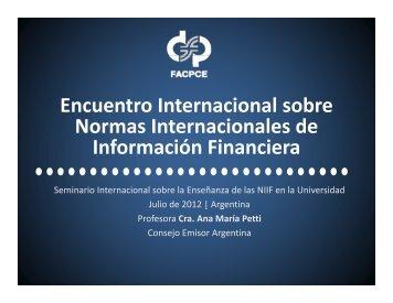 Ana María Petti - Federación Argentina de Consejos Profesionales ...