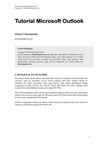 Tutorial Microsoft Outlook - E-Learning