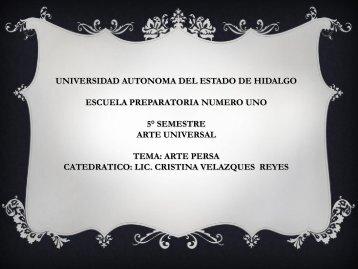Arte Persa - Universidad Autónoma del Estado de Hidalgo