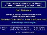 3: Infortuni sul lavoro - Medicina - Università degli studi di Cagliari.