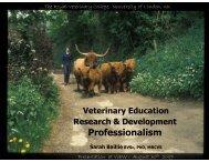 Professionalism - Veterinary Education Worldwide (ViEW)