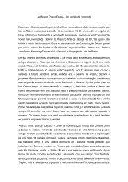 Jerffesom Prado Fassi - Um jornalista completo - Unifap