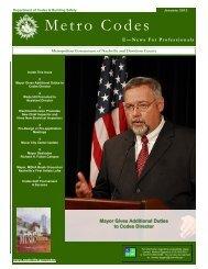 Nashville.gov - Codes - Newsletter for Professionals - January 2012