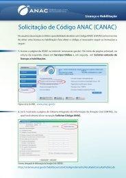 Solicitação de Código ANAC (CANAC)