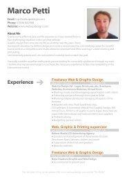 CV marco Petti.ai - Web Up Design