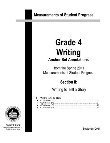 2011 Grade 4 Narrative Anchor Set and Annotations - Office of ...