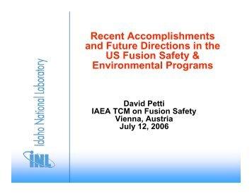 Petti IAEA - Nuclear Sciences and Applications - IAEA