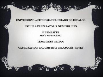 Arte Griego - Universidad Autónoma del Estado de Hidalgo