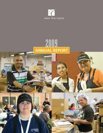 Annual Report 2009 - New Horizons