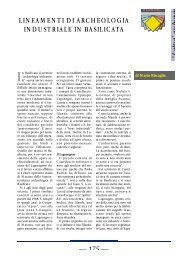 lineamenti di archeologia industriale in basilicata - Consiglio ...