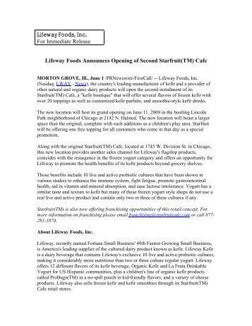 Lifeway / Lassi - Lifeway Foods
