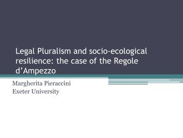 Commons, resilience and relational legal pluralism - Juridicum