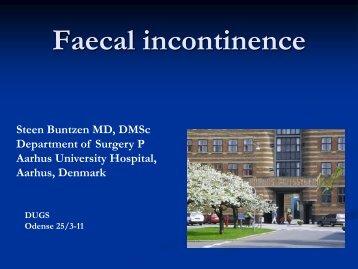 Faecal incontinence