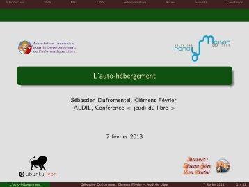 L'auto-hébergement - Aldil