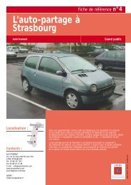 N°4 : L'auto-partage à Strasbourg - Ademe