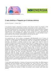 L'auto elettrica e l'impatto per il sistema elettrico - Iefe