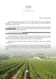 """Popoli, 22 Ottobre 2009 In the Gambero Rosso wine guide """"Vini d ..."""
